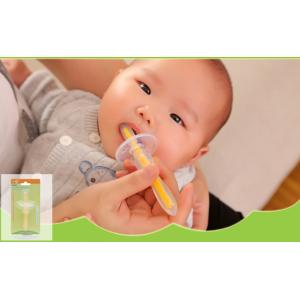 Зубная щетка массажер с ограничителем для малышей