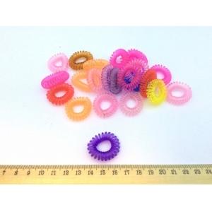 Силиконовая резинка-пружинка для волос цветная 2,5 см