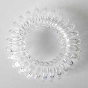 Силиконовая резинка-пружинка для волос бесцветная/прозрачная 6,5 см