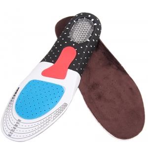 Ортопедические стельки для обуви спортивные с амортизирующей защитой пяткой  (мужские)