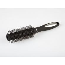 РАСЧЕСКА МАССАЖНАЯ КРУГЛАЯ - брашинг (цвет серый) с эргономичной ручкой