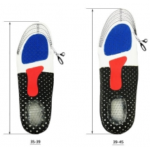 Ортопедические стельки для обуви спортивные с амортизирующей защитой пяткой  (женские)